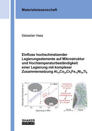 Einfluss hochschmelzender Legierungselemente auf Mikrostruktur und Hochtemperaturbeständigkeit einer Legierung mit komplexer Zusammensetzung Al10Co25Cr8Fe15Ni36Ti6 von Haas,  Sebastian