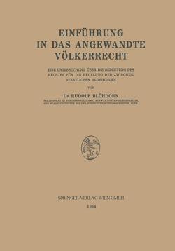 Einführung in das Angewandte Völkerrecht von Blühdorn,  Rudolf