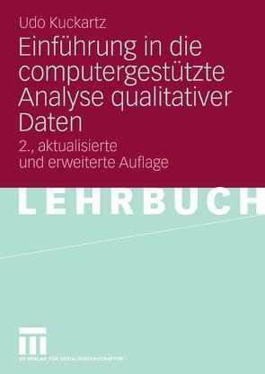Einführung in die computergestützte Analyse qualitativer Daten von Kuckartz,  Udo
