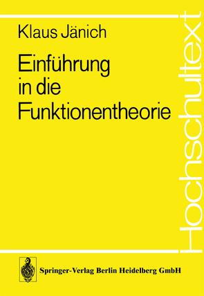 Einführung in die Funktionentheorie von Jänich,  K.