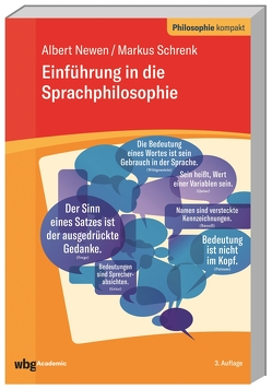Einführung in die Sprachphilosophie von Newen,  Albert, Schrenk,  Markus