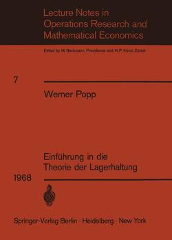 Einführung in die Theorie der Lagerhaltung von Popp,  W.