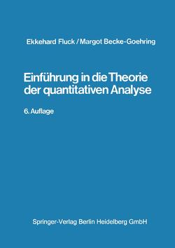 Einführung in die Theorie der qualitativen Analyse von Becke-Goehring,  M., Fluck,  E.