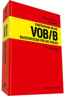 Einführung in die VOB/B von Kapellmann,  Klaus D., Langen,  Werner