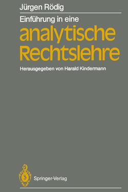 Einführung in eine analytische Rechtslehre von Kindermann,  Harald, Rödig,  Jürgen