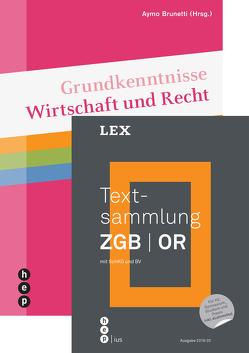 Einführungsangebot «Textsammlung ZGB   OR» und «Grundkenntnisse Wirtschaft und Recht» von Brunetti,  Aymo