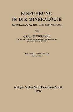 Einführung in die Mineralogie von Correns,  Carl Wilhelm