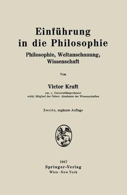 Einführung in die Philosophie von Kraft,  Victor