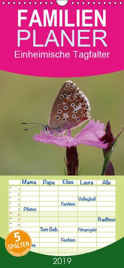 Einheimische Tagfalter – Familienplaner hoch (Wandkalender 2019 , 21 cm x 45 cm, hoch) von Sprenger,  Bernd