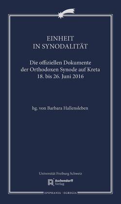 Einheit in Synodalität von Hallensleben,  Barbara