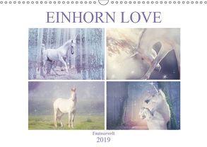 Einhorn Love – Fantasiewelt (Wandkalender 2019 DIN A3 quer) von Brunner-Klaus,  Liselotte