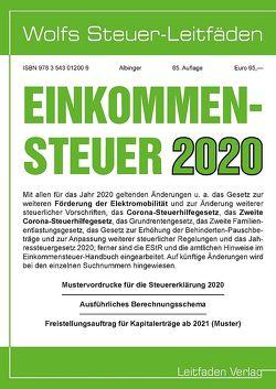 Einkommensteuer für 2020 von Albinger,  Bert
