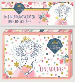Einladungskarten – Prinzessin Lillifee (Glitter & Gold) – Einladung von Finsterbusch,  Monika