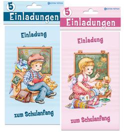 Einladungskarten zum Schulanfang
