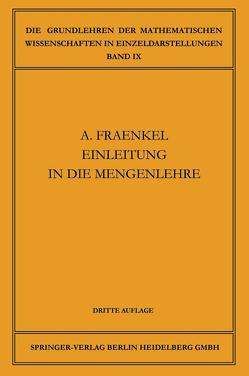 Einleitung in die Mengenlehre von Fraenkel,  Abraham Adolf