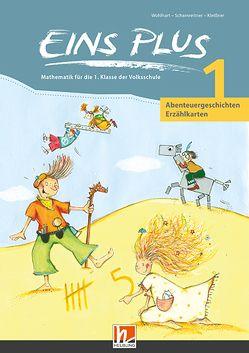 EINS PLUS 1. Erzählkarten Abenteuergeschichten von Kleißner,  Elisa, Scharnreitner,  Michael, Wohlhart,  David