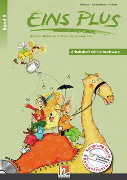 EINS PLUS 3. Ausgabe D. Arbeitsheft mit Lernsoftware von Kleißner,  Elisa, Scharnreitner,  Michael, Wohlhart,  David