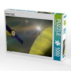 Einsamer Satellit 1000 Teile Puzzle quer von Stefanie Winkler – cglightNing