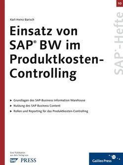 Einsatz von SAP BW im Produktkosten-Controlling von Barisch,  Karl H
