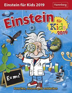 Einstein für Kids – Kalender 2019 von Ahlgrimm,  Achim, Harenberg, Rüter,  Martina, Simon,  Katia