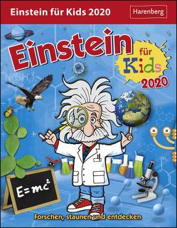 Einstein für Kids Kalender 2020 von Ahlgrimm,  Achim, Harenberg, Rüter,  Martina