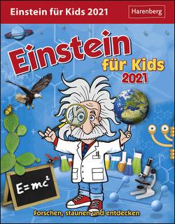 Einstein für Kids Kalender 2021 von Ahlgrimm,  Achim, Harenberg, Rüter,  Martina, Simon,  Katia