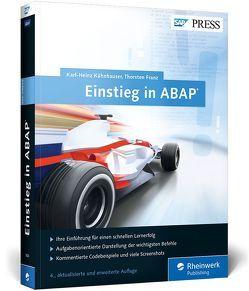 Einstieg in ABAP von Franz,  Thorsten, Kühnhauser,  Karl-Heinz