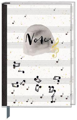 Eintragbuch mit Sammeltasche – Notes (Einband mit Noten)