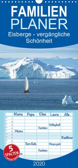 Eisberge – vergängliche Schönheit – Familienplaner hoch (Wandkalender 2020 , 21 cm x 45 cm, hoch) von calmbacher,  Christiane