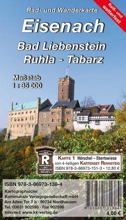 Eisenach – Bad Liebenstein – Ruhla – Tabarz von KKV Kartographische Kommunale Verlagsgesellschaft mbH