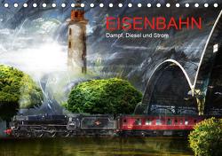 EISENBAHN – Dampf, Diesel und Strom (Tischkalender 2021 DIN A5 quer) von Fischer,  Harald