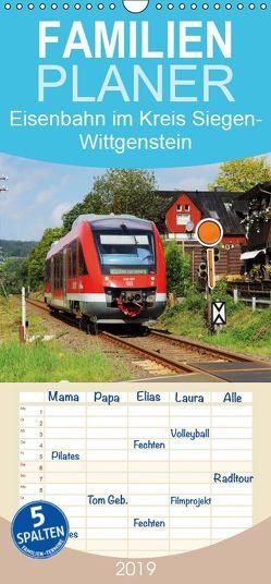 Eisenbahn im Kreis Siegen-Wittgenstein – Familienplaner hoch (Wandkalender 2019 , 21 cm x 45 cm, hoch) von Foto / Alexander Schneider,  Schneider