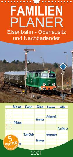 Eisenbahn Kalender – Oberlausitz und Nachbarländer – Familienplaner hoch (Wandkalender 2021 , 21 cm x 45 cm, hoch) von Heinzke,  Robert