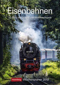 Eisenbahnen – Kalender 2019 von Harenberg