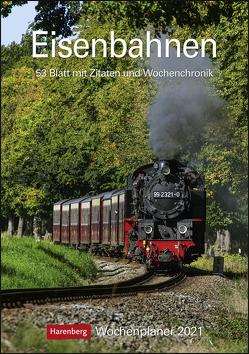 Eisenbahnen Kalender 2021 von Harenberg