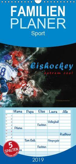 Eishockey – extrem cool – Familienplaner hoch (Wandkalender 2019 , 21 cm x 45 cm, hoch) von Roder,  Peter