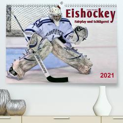 Eishockey – Fairplay und Schlägerei (Premium, hochwertiger DIN A2 Wandkalender 2021, Kunstdruck in Hochglanz) von Roder,  Peter