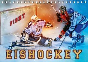 Eishockey – Fight (Tischkalender 2018 DIN A5 quer) von Roder,  Peter