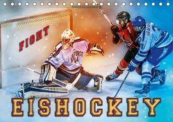 Eishockey – Fight (Tischkalender 2019 DIN A5 quer) von Roder,  Peter