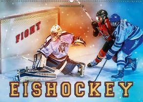 Eishockey – Fight (Wandkalender 2018 DIN A2 quer) von Roder,  Peter