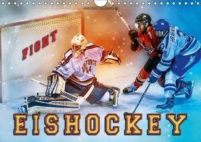 Eishockey – Fight (Wandkalender 2018 DIN A4 quer) von Roder,  Peter