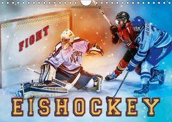 Eishockey – Fight (Wandkalender 2019 DIN A4 quer) von Roder,  Peter