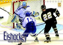 Eishockey – Kampf um den Puck (Tischkalender 2021 DIN A5 quer) von Bleicher,  Renate
