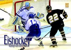 Eishockey – Kampf um den Puck (Wandkalender 2021 DIN A3 quer) von Bleicher,  Renate