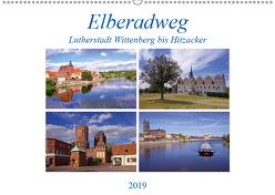 Elberadweg von Lutherstadt Wittenberg bis Hitzacker (Wandkalender 2019 DIN A2 quer) von Bussenius,  Beate