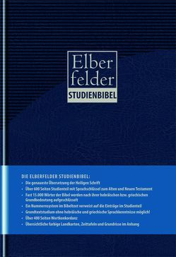 Elberfelder Bibel 2006 Kunstleder blau