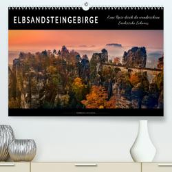 Elbsandsteingebirge – eine Reise durch die wunderschöne Sächsische Schweiz (Premium, hochwertiger DIN A2 Wandkalender 2020, Kunstdruck in Hochglanz) von Roder,  Peter