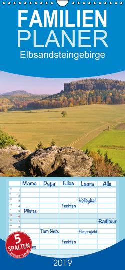 Elbsandsteingebirge – Familienplaner hoch (Wandkalender 2019 , 21 cm x 45 cm, hoch) von LianeM