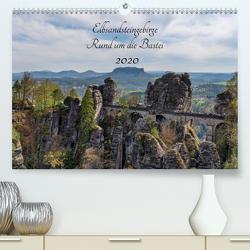 Elbsandsteingebirge – Rund um die Bastei (Premium, hochwertiger DIN A2 Wandkalender 2020, Kunstdruck in Hochglanz) von Wege / twfoto,  Thorsten