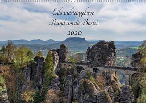 Elbsandsteingebirge – Rund um die Bastei (Wandkalender 2020 DIN A2 quer) von Wege / twfoto,  Thorsten